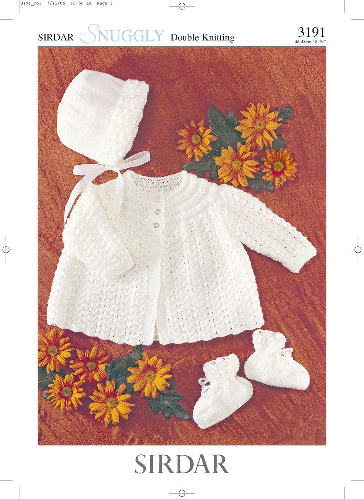 8f4c74a7dba7 Sirdar 3191 Knitting Pattern Matinee Coat
