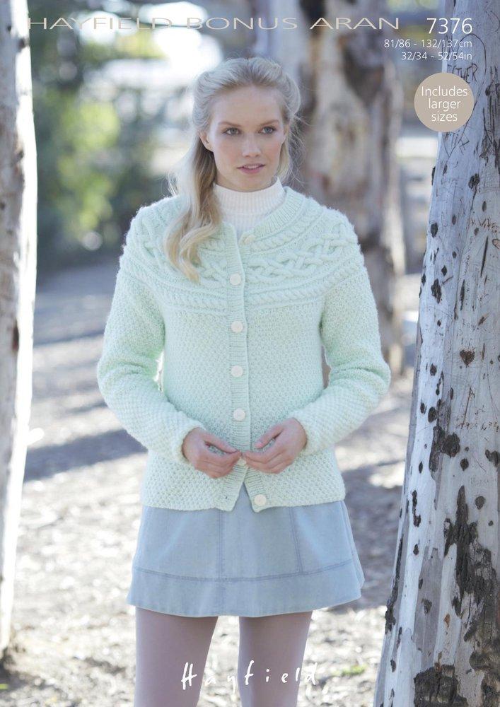 Sirdar 7376 Knitting Pattern Womens Irish Moss Stitch Cardigan in ...