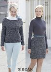 Sirdar 7391 Knitting Pattern Womens Sweater and Skirt in Sirdar Bouffle Chunky