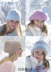 Sirdar 9056 Knitting Pattern Ladies Girls Beret, Beanie and Hats in Sirdar Big Softie Super Chunky