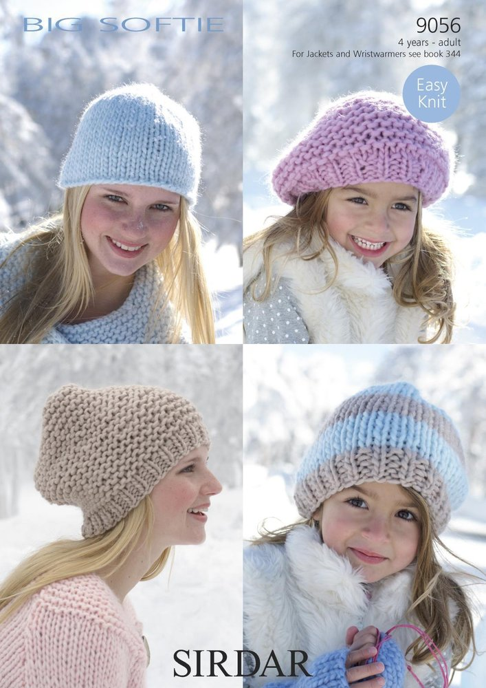 551913b2 Sirdar 9056 Knitting Pattern Ladies Girls Beret, Beanie and Hats in Sirdar  Big Softie Super Chunky - Athenbys