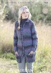 Sirdar 7486 Knitting Pattern Ladies Coat in Sirdar Sylvan Chunky