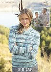 Sirdar 9133 Knitting Pattern Family Sweaters in Sirdar Crofter DK