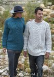 Sirdar 9465 Knitting Pattern Mens Womens Cable Sweaters in Hayfield Bonus Aran