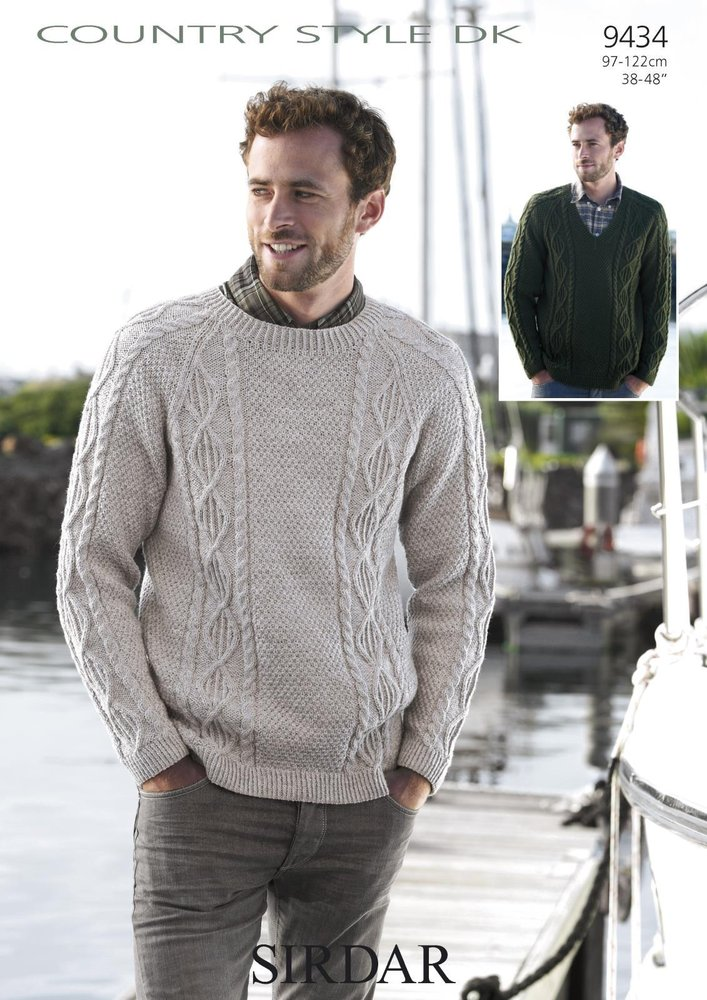 Sirdar 9434 Knitting Pattern Mens Sweaters in Sirdar Country Style ...