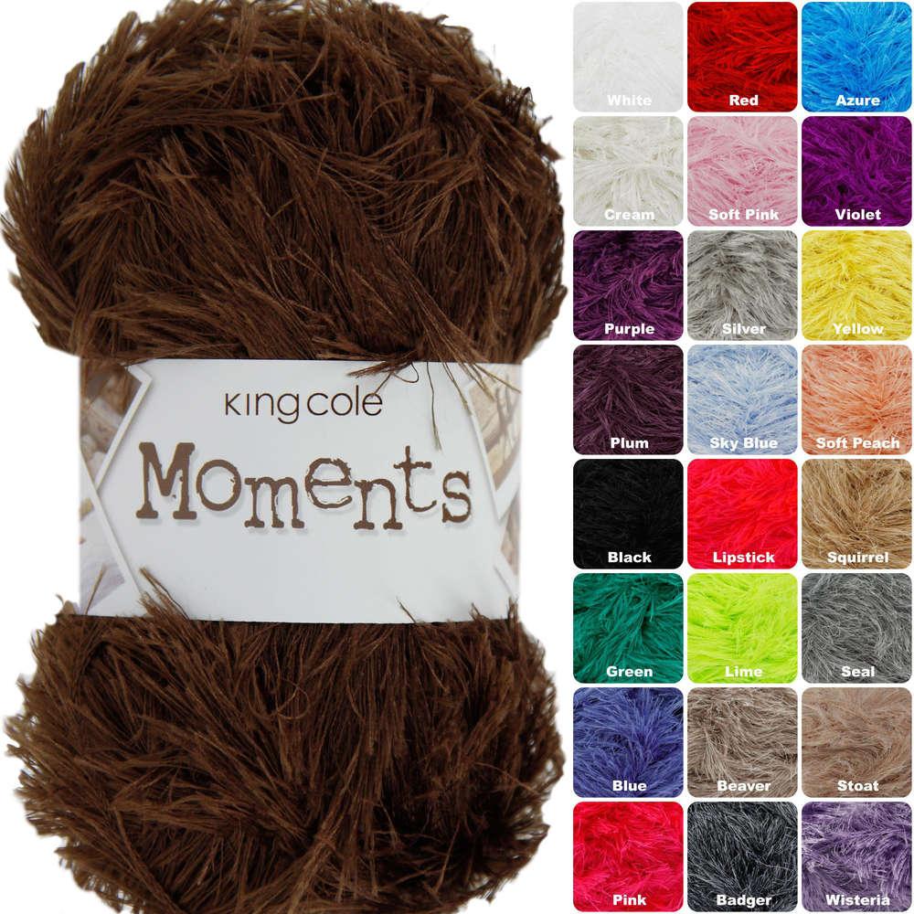 King Cole Moments Eyelash Knitting Yarn - Athenbys