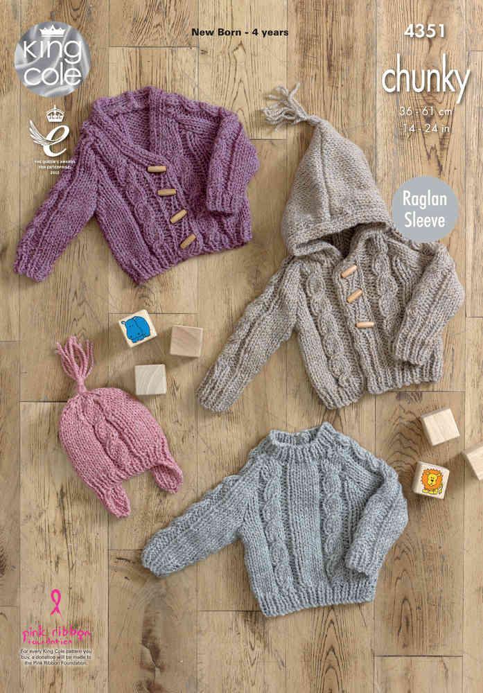 f9b432435 King Cole 4351 Knitting Pattern Sweater
