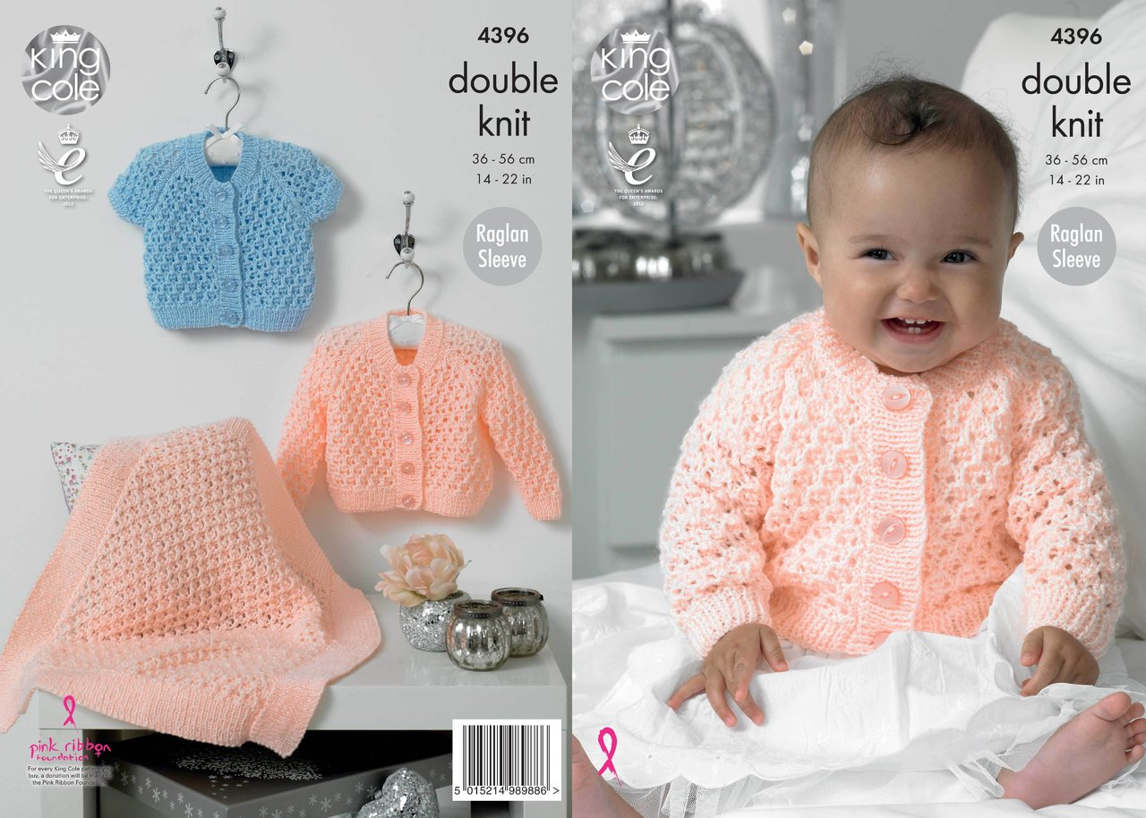 King Cole 4396 Knitting Pattern Cardigans and Blanket in King Cole ...