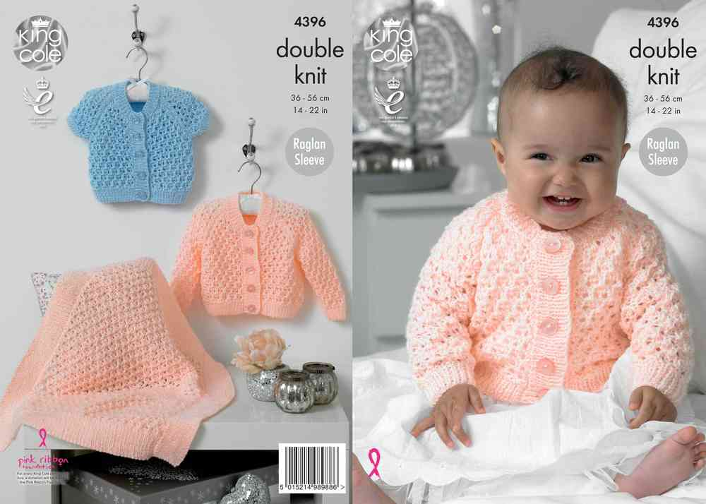 9d2b3cd01e96 King Cole 4396 Knitting Pattern Cardigans and Blanket in King Cole ...