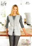 Stylecraft 8935 Knitting Pattern Ladies Waistcoat in Stylecraft Life 4 Ply
