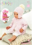 Stylecraft 8917 Knitting Pattern Baby's Cardigan Helmet and Beret in Stylecraft Lullaby DK