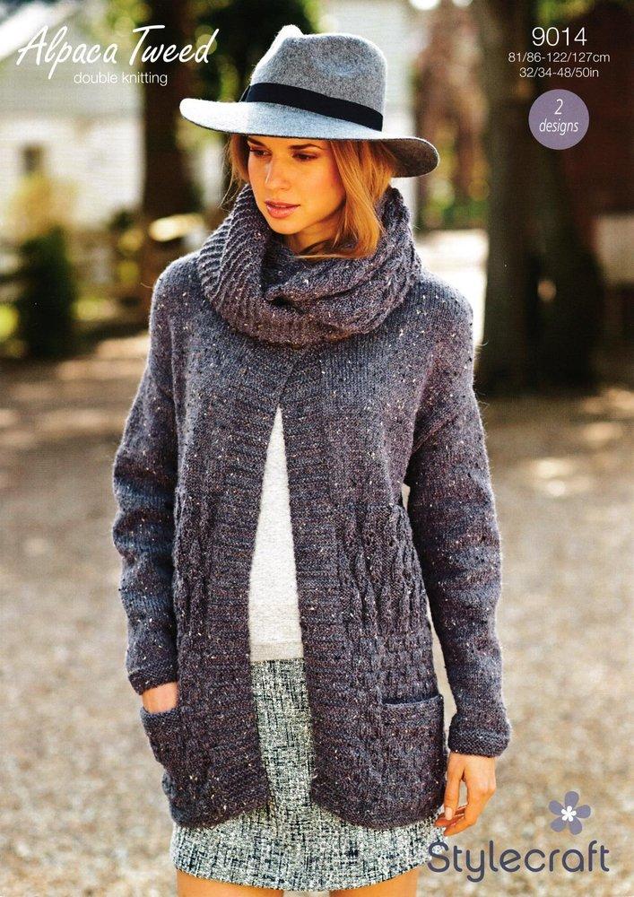 Stylecraft Suéter 8720 De Damas En Alpaca DK Tejer patrón