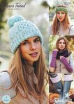 Stylecraft 9016 Knitting Pattern Hat, Headband, Welly Toppers & Fingerless Mitts in Alpaca Tweed DK