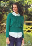 Stylecraft 9026 Knitting Pattern Ladies Sweater in Life DK