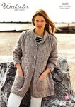 Stylecraft 9038 Knitting Pattern Long Cardigan in Weekender Super Chunky