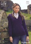 Stylecraft 9025 Knitting Pattern Ladies Sweater in Life DK