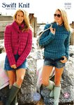 Stylecraft 9068 Knitting Pattern Ladies Jacket and Sweater in Swift Knit Super Chunky