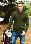 Stylecraft 9095 Knitting Pattern Mens Sweaters in Alpaca DK