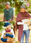 Stylecraft 9126 Knitting Pattern Ladies Hat Scarf Gauntlets Cowl in Life Super Chunky