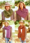 Stylecraft 9127 Knitting Pattern Ladies Cowl Scarf and Neck Cuff in Life Super Chunky