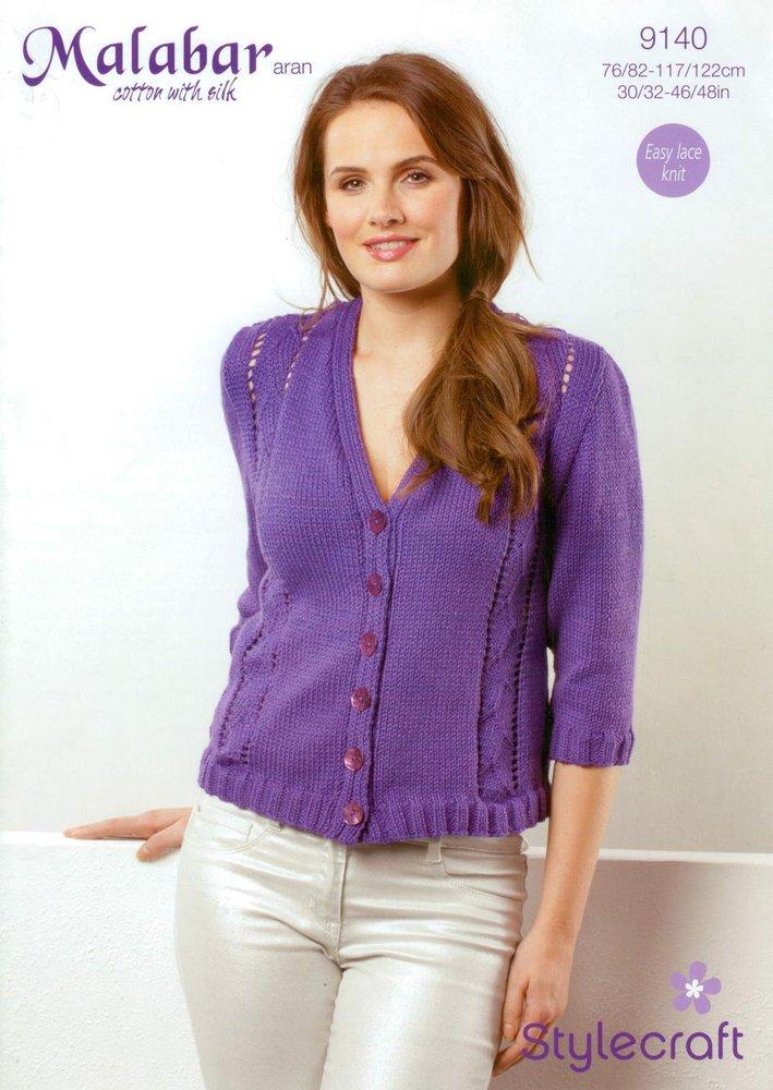 Stylecraft 9140 Knitting Pattern Ladies Cardigan In Malabar Aran