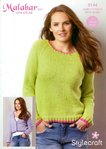 Stylecraft 9144 Knitting Pattern Ladies Sweater and Cardigan in Malabar Aran