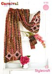 Stylecraft 9160 Crochet Pattern Scarf Shawl Mittens in Carnival Chunky and Life Aran