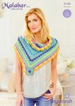 Stylecraft 9149 Crochet Pattern Ladies Shawls in Malabar Aran