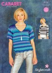 Stylecraft 9182 Knitting Pattern Ladies Sweaters Tops  in Cabaret DK