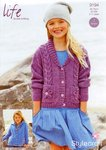 Stylecraft 9194 Knitting Pattern Girls' Cardigans in Stylecraft Life DK