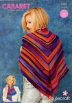 Stylecraft 9187 Crochet Pattern Ladies Scarf and Shawl in Cabaret DK