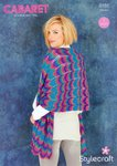 Stylecraft 9185 Knitting Pattern Ladies Shawls and Scarf in Cabaret DK