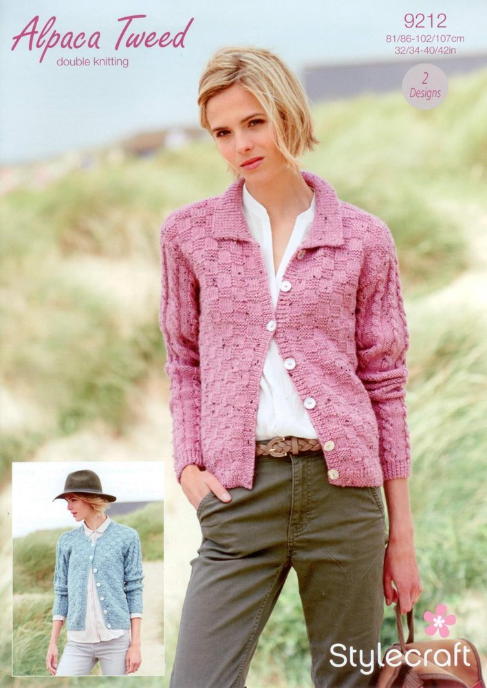 5f5e54854 Stylecraft 9212 Knitting Pattern Cardigans in Stylecraft Alpaca Tweed DK -  Athenbys