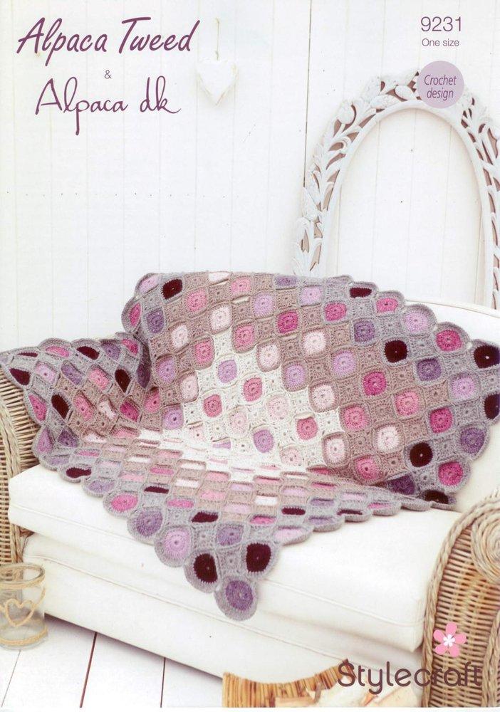 Stylecraft 9231 Crochet Pattern Circle Motif Throw In Stylecraft