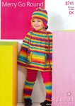 Stylecraft 8741 Knitting Pattern Cape, Leg Warmers and Helmet in Wondersoft Merry Go Round DK