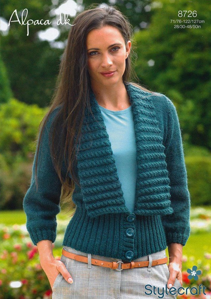 Stylecraft 8726 Knitting Pattern Ladies Cardigan In Stylecraft