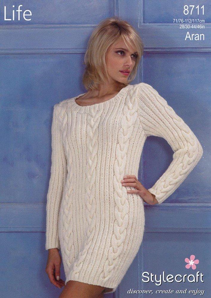 Stylecraft 8711 Knitting Pattern Ladies Sweater In Stylecraft Life