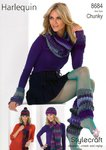 Stylecraft 8684 Knitting Pattern Hat, Scarves, Snood, Leg Warmers & Wrist Warmers