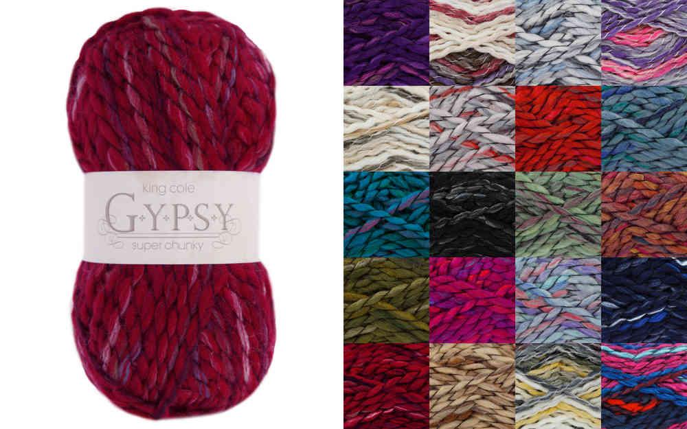 0f9c26b3c King Cole Gypsy Super Chunky Acrylic and Wool Knitting Yarn
