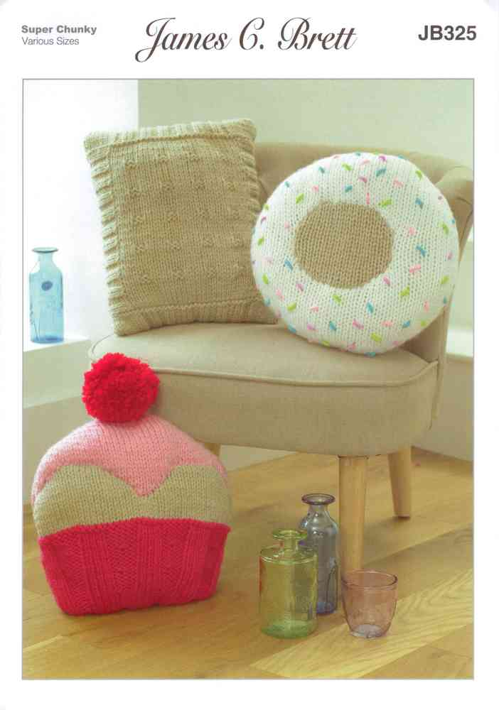 James Brett Jb325 Knitting Pattern Cushion Covers To Knit In Amazon