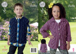 King Cole 4421 Knitting Pattern Childrens Jacket and Gillet in King Cole Chunky Tweed