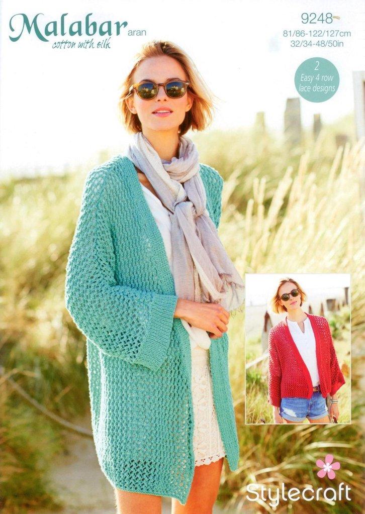 Stylecraft 9248 Knitting Pattern Ladies Jackets in Malabar Aran ...