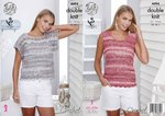 King Cole 4494 Crochet Pattern T Shirt and Vest Top in Vogue DK