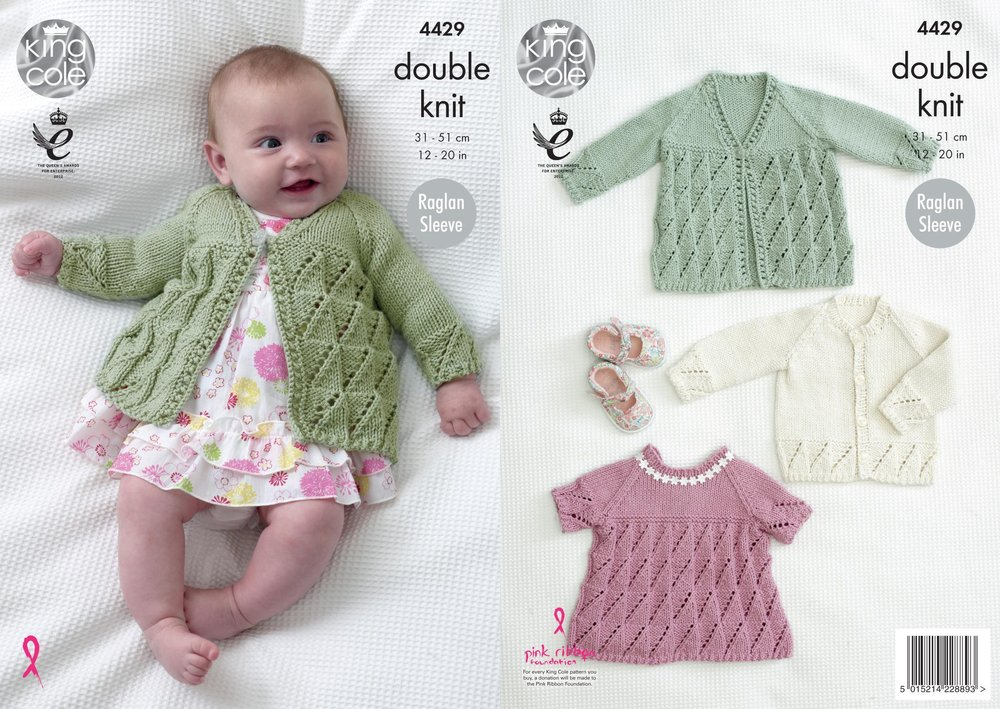 King Cole 4429 Knitting Pattern Baby Matinee Coat, Angel Top and ...