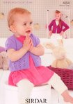 Sirdar 4654 Knitting Pattern Baby & Girls Cardigans to knit in Sirdar Snuggly DK