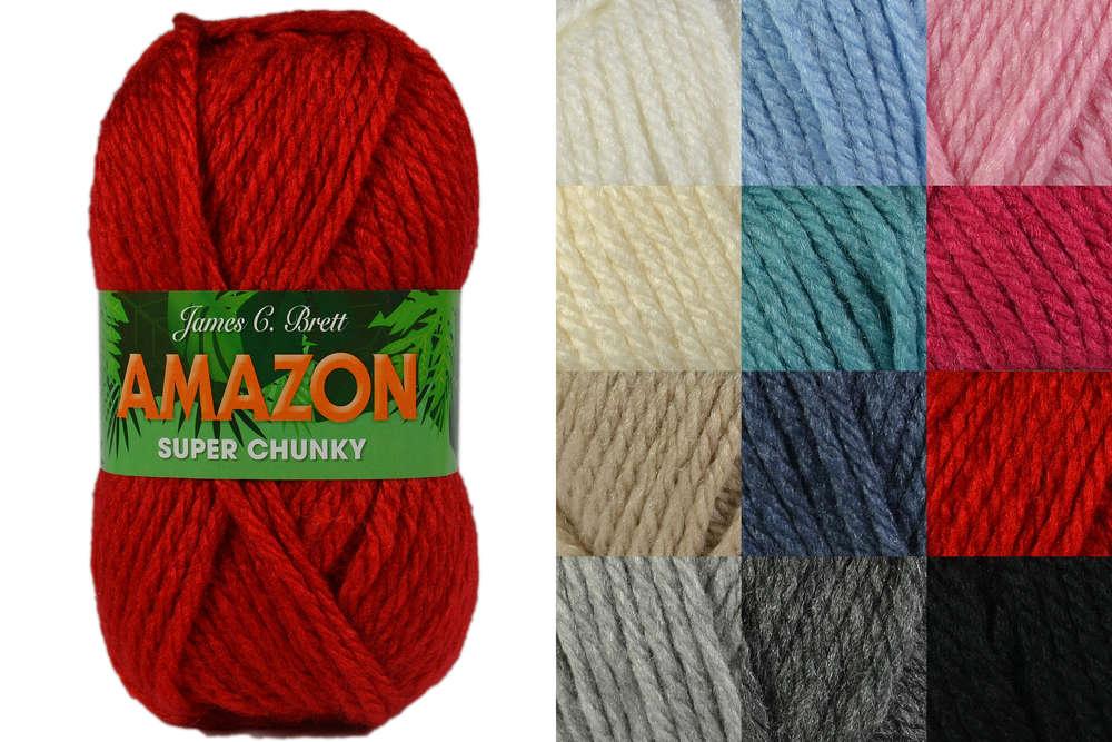 2f352353f86 James C Brett Amazon Super Chunky Knitting Yarn