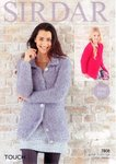 Sirdar 7808 Knitting Pattern Ladies and Girls Cardigans in Sirdar Touch