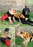 Wendy 5855 Crochet Pattern Ladybird and Tiger Dog Coats in Mode Chunky