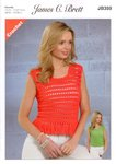 James C Brett JB359 Crochet Pattern Ladies Vest Cropped Top in Noodles Chunky