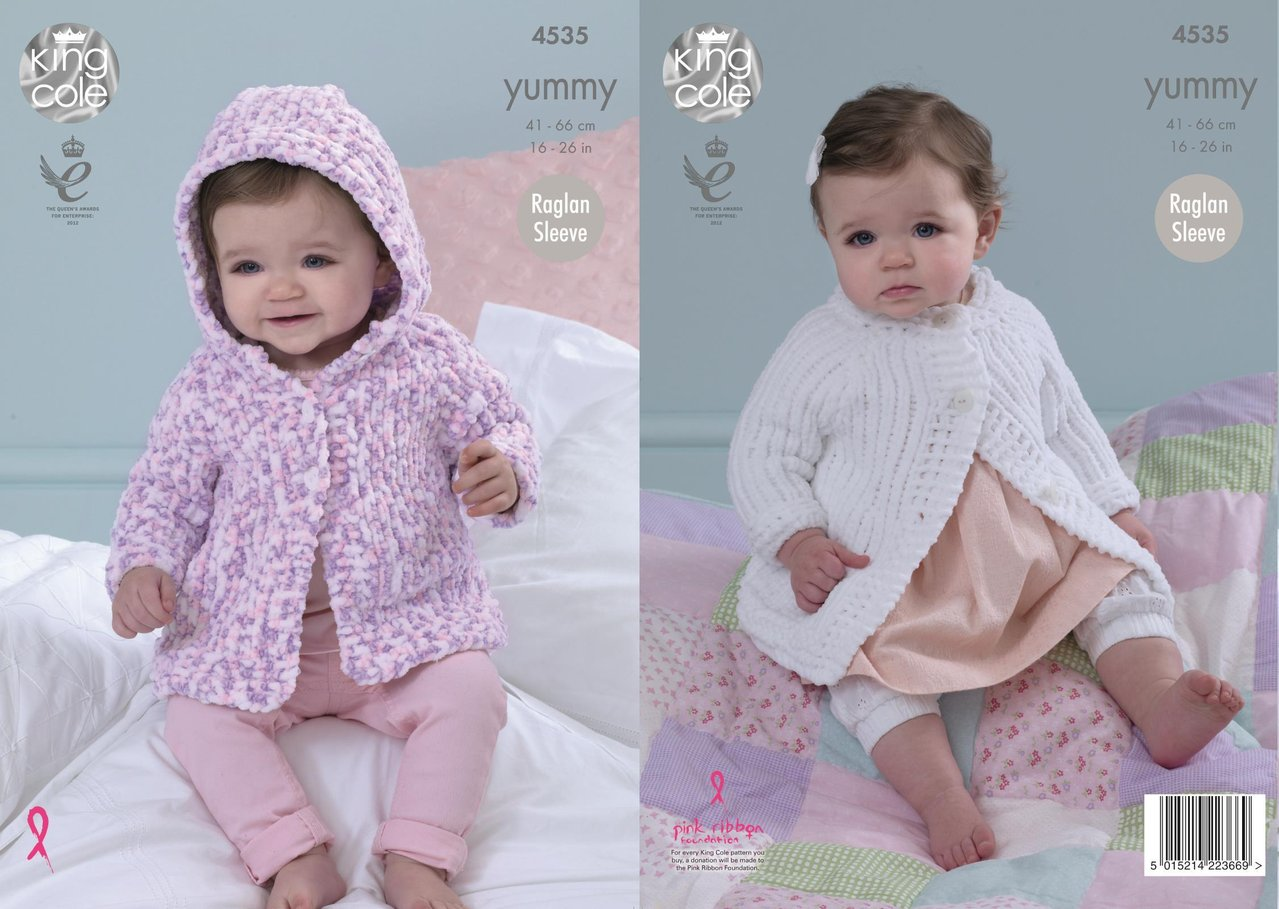 King Cole 4535 Knitting Pattern Baby Jackets to knit in King Cole ...